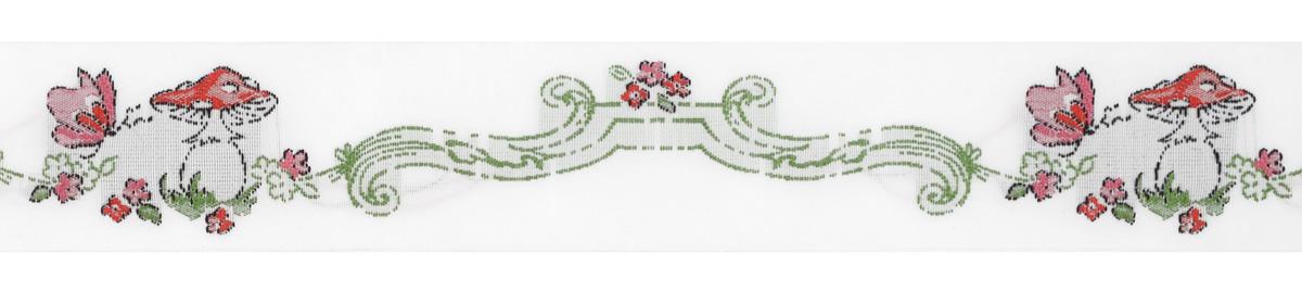 Тесьма декоративная Жаркое лето, цвет: белый, зеленый, красный, 1 м х 30 мм. 35097-0135097-01Тесьма декоративная Жаркое лето выполнена из высококачественного 100% полиэстера. На ленте изображены цветы, мухомор и бабочка. Рисунок выполнен из 100% хлопка. Тесьма Acufactum и сегодня ткется на старинных станках с использованием перфокарт, которые изготавливаются для каждого вида тесьмы с тончайшей проработкой самых мелких деталей. Это достаточно долгий и трудоемкий процесс, но результат того стоит! Тесьма наивысшего уровня качества, которая очень практична в использовании, т.к. выдерживает стирку при температуре 60 градусов. А изобилие дизайнов просто потрясает!