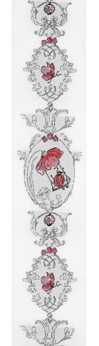 Тесьма декоративная Летние овалы, цвет: белый, серый, красный, 1 м х 50 мм. 35096-0235096-02Изысканная декоративная тесьма Летние овалы выполнена из высококачественного 100% полиэстера. На ленте изображены цветы маки, бабочки и божьи коровки. Рисунок выполнен из 100% хлопка. Тесьма Acufactum ткется на старинных станках с использованием перфокарт, которые изготавливаются для каждого вида тесьмы с тончайшей проработкой самых мелких деталей. Это достаточно долгий и трудоемкий процесс, но результат того стоит! Тесьма наивысшего уровня качества, которая очень практична в использовании т.к. выдерживает стирку при температуре 60 градусов. А изобилие дизайнов просто потрясает!