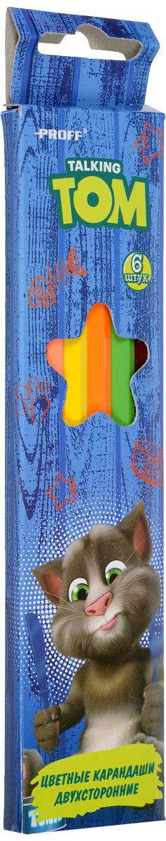 Proff Набор цветных двухсторонних карандашей Говорящий Том 6 штTT16-JWCL12Набор цветных двухсторонних карандашей Proff Говорящий Том наполнит творческую жизнь вашего ребенка яркими и необычными цветами. Карандаши имеют высококачественный ударопрочный грифель, легко затачиваются и подходят для любого вида точилок. В наборе 6 карандашей из 12 цветов. С таким замечательным набором ваш ребенок будет находиться всегда в хорошем настроении, и, не останавливаясь, идти по своему творческому пути.