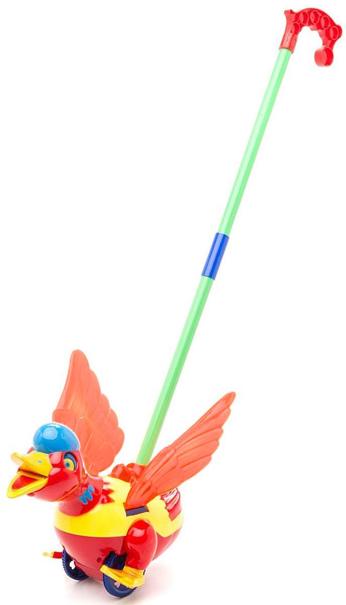 Ami&Co Игрушка-каталка Уточка цвет оранжевый желтый бордовый44412_оранжевый, желтый, бордовыйЗабавная игрушка-каталка Ami&Co Уточка станет любимой игрушкой вашего малыша. Каталка выполнена в виде уточки, которая при движении пищит, шевелит лапками и головой. Детская каталка предназначена для малышей, которые уже начали ходить самостоятельно. Яркие, забавные образы принесут радость и веселье во время игр. Игрушка поможет развить координацию движения, тактильные навыки и мелкую моторику рук ребенка, а издаваемые ею звуки активно стимулируют его слух. Порадуйте своего ребенка таким замечательным подарком!