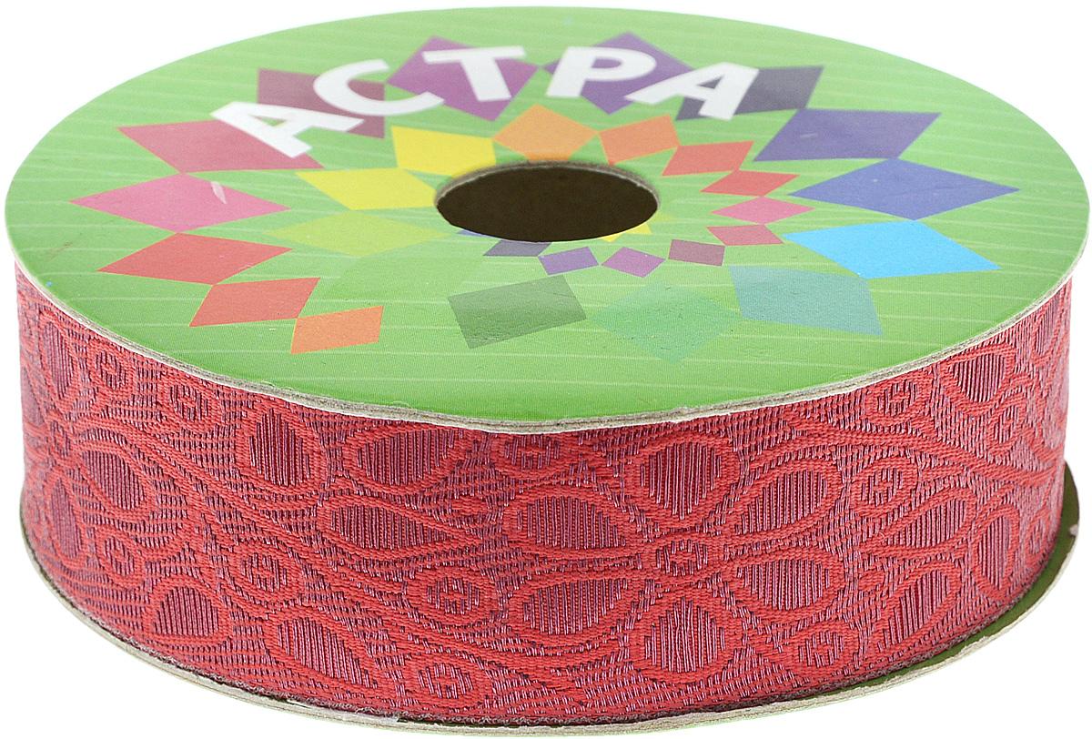 Тесьма декоративная Астра, цвет: красный (24/27), ширина 3 см, длина 9 м. 77034497703449_24/27Декоративная тесьма Астра выполнена из текстиля и оформлена оригинальным орнаментом. Такая тесьма идеально подойдет для оформления различных творческих работ таких, как скрапбукинг, аппликация, декор коробок и открыток и многое другое. Тесьма наивысшего качества и практична в использовании. Она станет незаменимым элементом в создании рукотворного шедевра. Ширина: 3 см. Длина: 9 м.