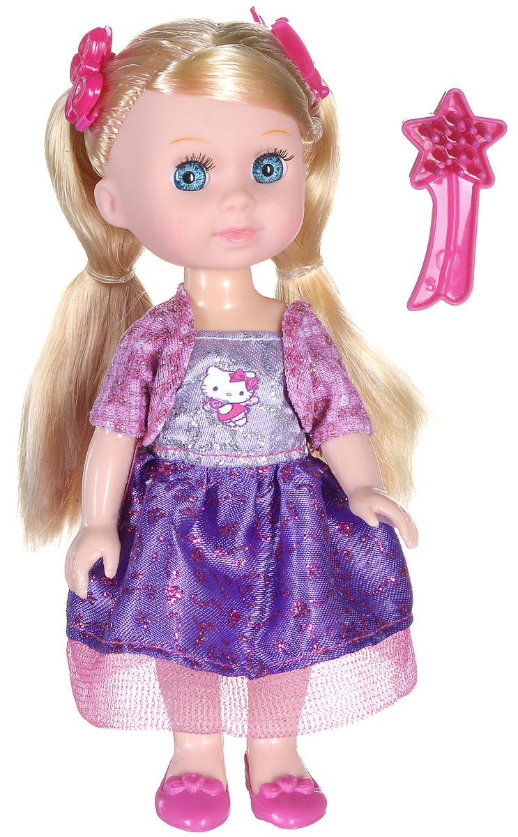 Карапуз Мини-кукла озвученная Моя подружка Машенька цвет наряда фиолетовый розовыйMARY001X-HK_фиолетовыйОзвученная мини-кукла Карапуз Моя подружка Машенька порадует любую девочку и позволит ей окунуться в сказочный мир волшебства. Машенька одета в очаровательный блестящий наряд, на ногах куклы - розовые туфельки. Вашей дочурке непременно понравится заплетать длинные волосы куклы, придумывая разнообразные прически. Руки, ноги и голова куклы подвижны, благодаря чему ей можно придавать разнообразные позы. Кроме того, куколка оснащена звуковыми эффектами. Она знает 4 стихотворения, поет и говорит. В наборе имеется расческа для куклы и 2 заколки для волос. Игры с куклой способствуют эмоциональному развитию, помогают формировать воображение и художественный вкус, а также разовьют в вашей малышке чувство ответственности и заботы. Великолепное качество исполнения делают эту куколку чудесным подарком к любому празднику. Рекомендуется докупить 3 батарейки типа LR41 (товар комплектуется демонстрационными).