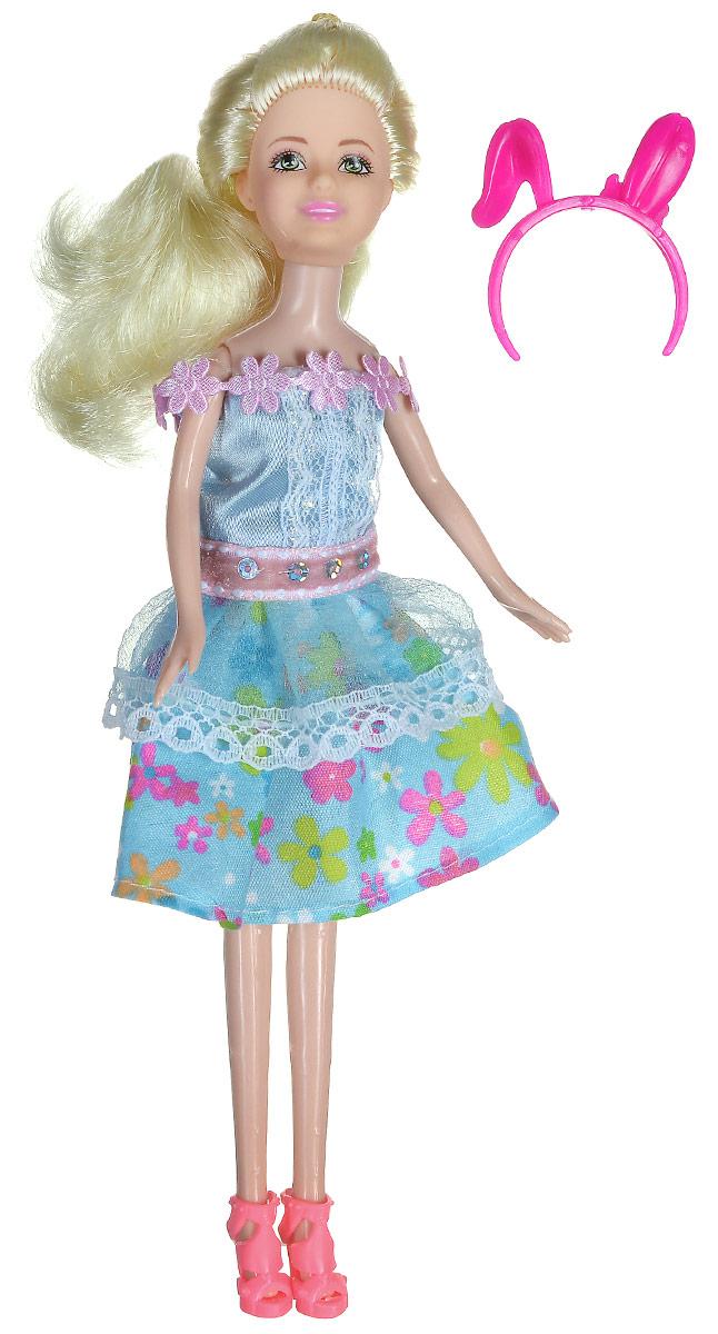 Shantou Кукла Ardana цвет платья голубойA191-H43391_голубойКукла Shantou Ardana порадует вашу малышку и доставит ей много удовольствия от часов, посвященных игре с ней. Кукла готова сразить всех наповал своей ослепительной красотой! Красотка с длинными светлыми волосами, одета в стильное голубое платье с декоративной отделкой. На ножках модницы - розовые босоножки на каблуках. Яркий образ дополняет ободок с ушками. Порадуйте свою малышку таким великолепным подарком!