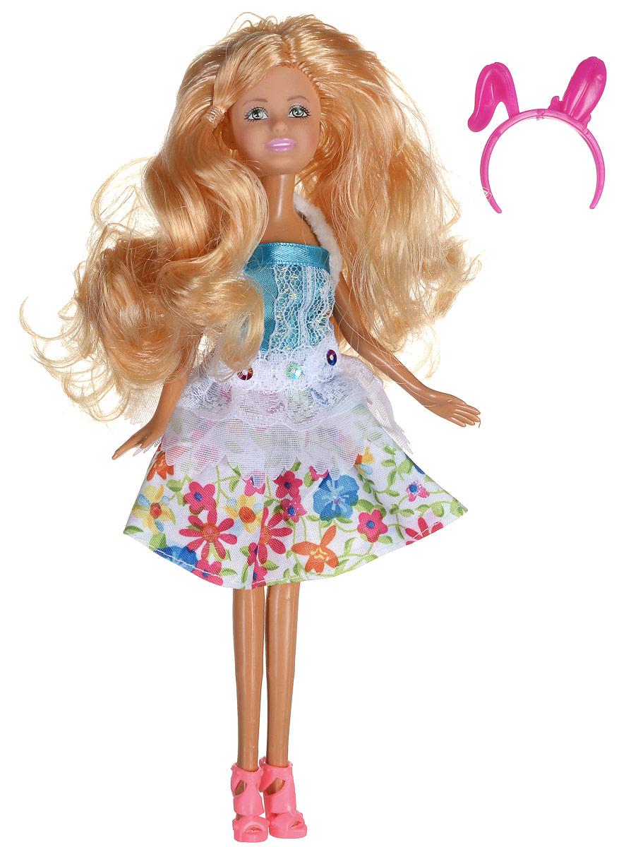 Shantou Кукла Ardana цвет платья белый бирюзовыйA191-H43391_белый, голубойКукла Shantou Ardana порадует вашу малышку и доставит ей много удовольствия от часов, посвященных игре с ней. Кукла готова сразить всех наповал своей ослепительной красотой! Красотка с длинными светлыми волосами, одета в стильное платье с цветочным принтом и меховой накидкой. На ножках модницы - розовые босоножки на каблуках. Яркий образ дополняет ободок с ушками. Порадуйте свою малышку таким великолепным подарком!