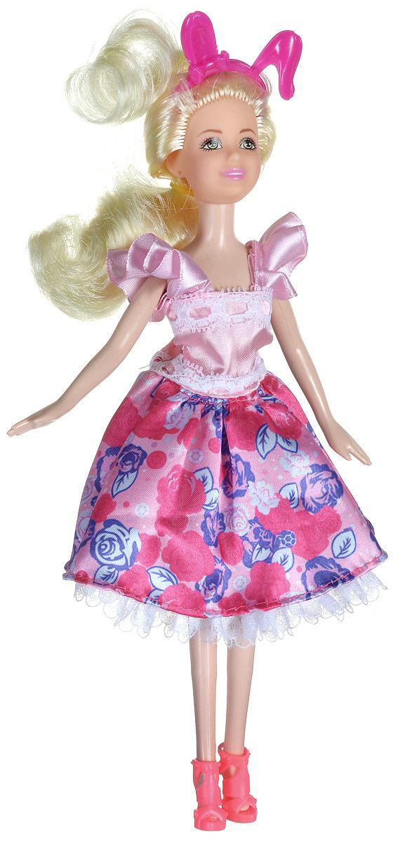 Shantou Кукла Ardana цвет платья розовыйA191-H43391_розовыйКукла Shantou Ardana порадует вашу малышку и доставит ей много удовольствия от часов, посвященных игре с ней. Кукла готова сразить всех наповал своей ослепительной красотой! Красотка с длинными светлыми волосами, одета в стильное розовое платье с цветочным принтом и декоративной отделкой. На ножках модницы - розовые босоножки на каблуках. Яркий образ дополняет ободок с ушками. Порадуйте свою малышку таким великолепным подарком!