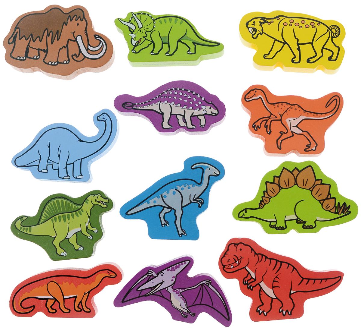 Hape Пазл для малышей ДинозаврыЕ0910Пазл для малышей Hape Динозавры понравится ребенку и познакомит его с миром древних рептилий. В набор входят 12 элементов в виде фигурок различных видов динозавров. Детали выполнены из натурального дерева и окрашены качественными красками, которые абсолютно безопасны для ребенка. Ребенок обязательно будет играть с такими фигурками, и придумывать различные истории, а благодаря компактным размерам он всегда сможет брать их с собой на прогулку или в гости.