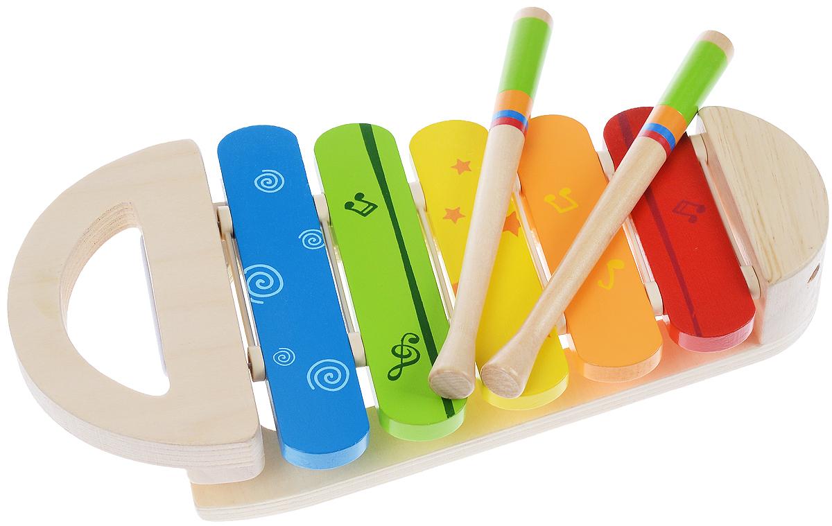 Hape Ксилофон РадугаЕ0302Ксилофон Hape Радуга непременно порадует маленького музыканта. Он выполнен из современных и экологически безопасных материалов. Игрушка имеет яркий цвет и обязательно привлечет внимание малыша. Удобные палочки позволят вашему ребенку сочинять различные мелодии. Такая яркая музыкальная игрушка поможет ребенку развить слух, внимание, память и мелкую моторику.