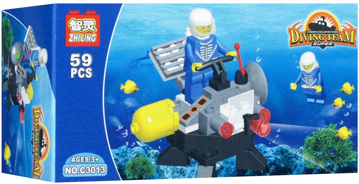 Shantou Конструктор Diving Team цвет серыйR840-H26059/С3013Конструктор Shantou Diving Team включает в себя 59 разноцветных пластиковых элементов. Конструктор - это один из самых увлекательных и веселых способов времяпрепровождения. Ребенок сможет часами играть с конструктором, придумывая различные ситуации и истории. Собирая конструктор, ребенок развивает воображение, мелкую моторику рук, пространственное и логическое мышления.