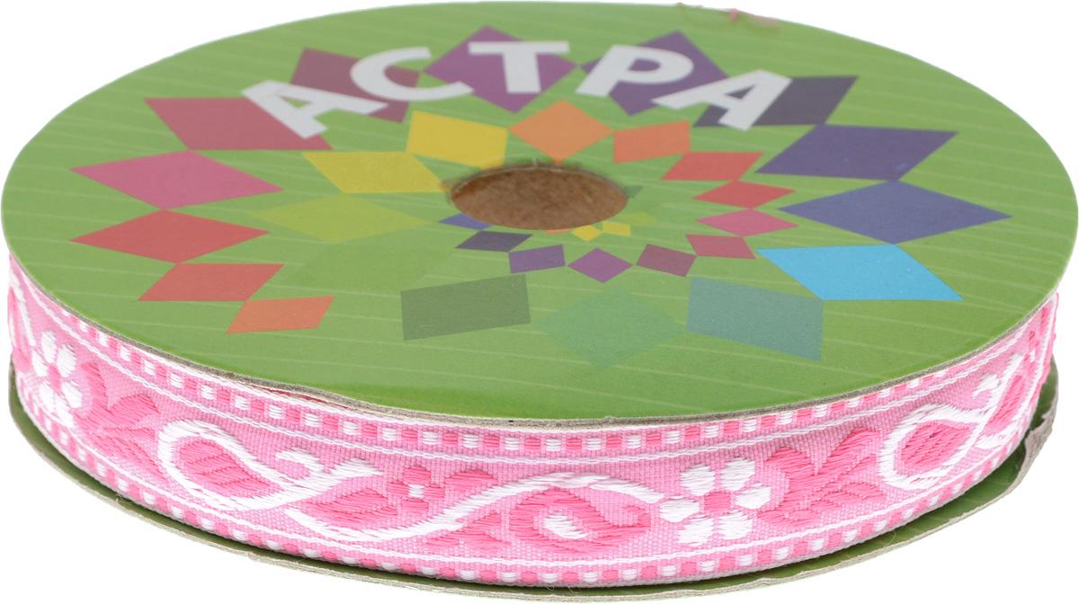 Тесьма декоративная Астра, цвет: розовый (2), ширина 2 см, длина 16,4 м. 77032707703270_2Декоративная тесьма Астра выполнена из текстиля и оформлена оригинальным орнаментом. Такая тесьма идеально подойдет для оформления различных творческих работ таких, как скрапбукинг, аппликация, декор коробок и открыток и многое другое. Тесьма наивысшего качества и практична в использовании. Она станет незаменимым элементом в создании рукотворного шедевра. Ширина: 2 см. Длина: 16,4 м.