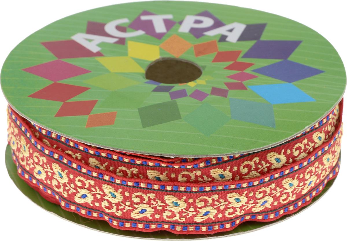 Тесьма декоративная Астра, цвет: красный, ширина 2 см, длина 16,4 м. 77033067703306Декоративная тесьма Астра выполнена из текстиля и оформлена оригинальным орнаментом. Такая тесьма идеально подойдет для оформления различных творческих работ таких, как скрапбукинг, аппликация, декор коробок и открыток и многое другое. Тесьма наивысшего качества и практична в использовании. Она станет незаменимым элементом в создании рукотворного шедевра. Ширина: 2 см. Длина: 16,4 м.