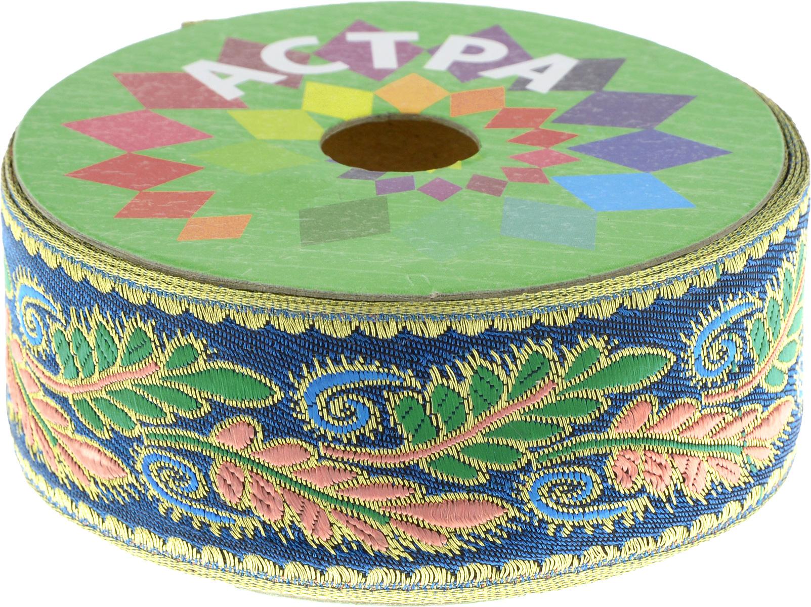Тесьма декоративная Астра, цвет: синий (С9), ширина 4 см, длина 9 м. 77034407703440_С9Декоративная тесьма Астра выполнена из текстиля и оформлена оригинальным орнаментом. Такая тесьма идеально подойдет для оформления различных творческих работ таких, как скрапбукинг, аппликация, декор коробок и открыток и многое другое. Тесьма наивысшего качества и практична в использовании. Она станет незаменимым элементом в создании рукотворного шедевра. Ширина: 4 см. Длина: 9 м.