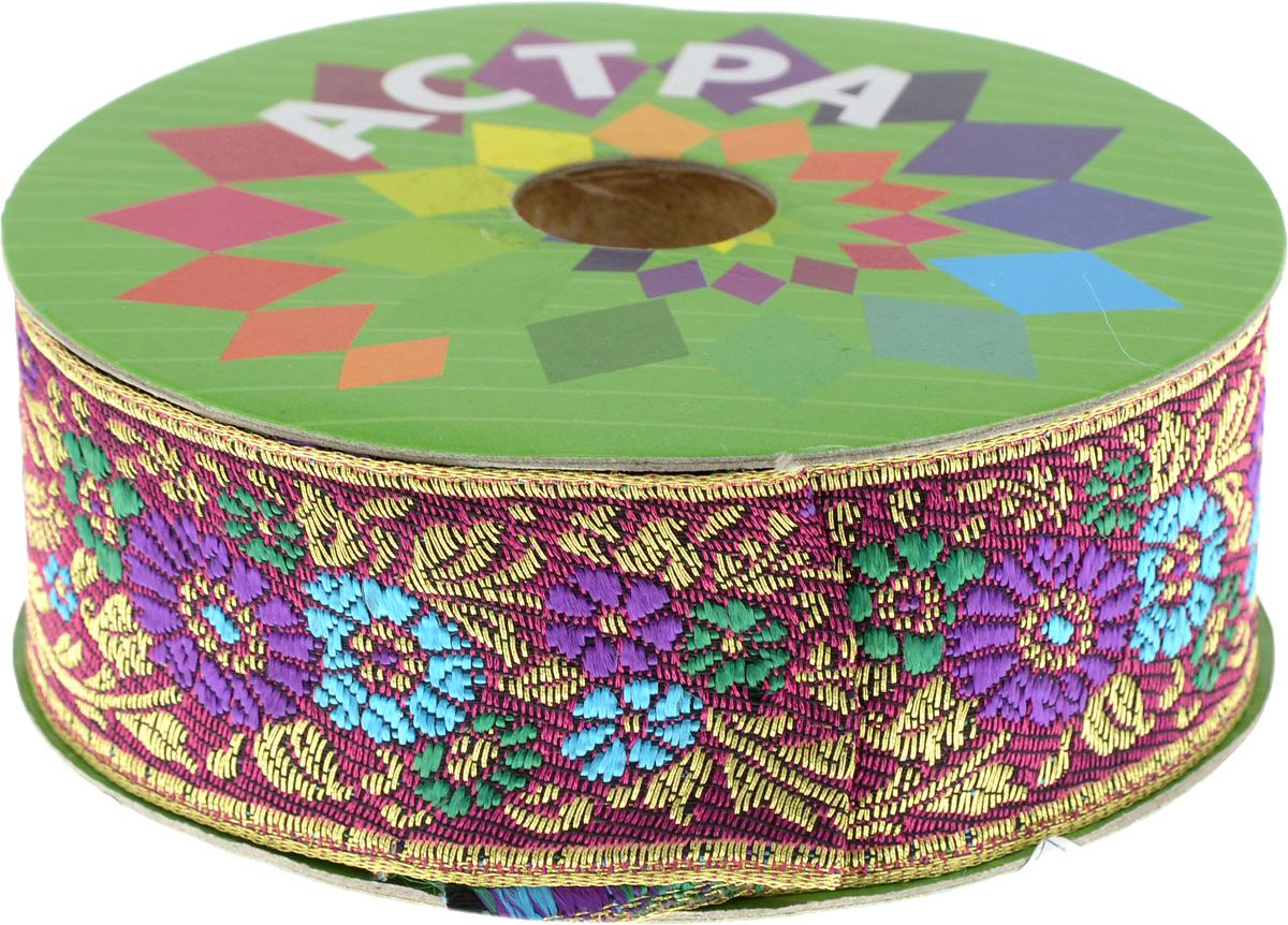 Тесьма декоративная Астра, цвет: фуксия, фиолетовый (С12), ширина 3 см, длина 9 м. 77034397703439_С12Декоративная тесьма Астра выполнена из текстиля и оформлена оригинальным орнаментом. Такая тесьма идеально подойдет для оформления различных творческих работ таких, как скрапбукинг, аппликация, декор коробок и открыток и многое другое. Тесьма наивысшего качества и практична в использовании. Она станет незаменимым элементом в создании рукотворного шедевра. Ширина: 3 см. Длина: 9 м.