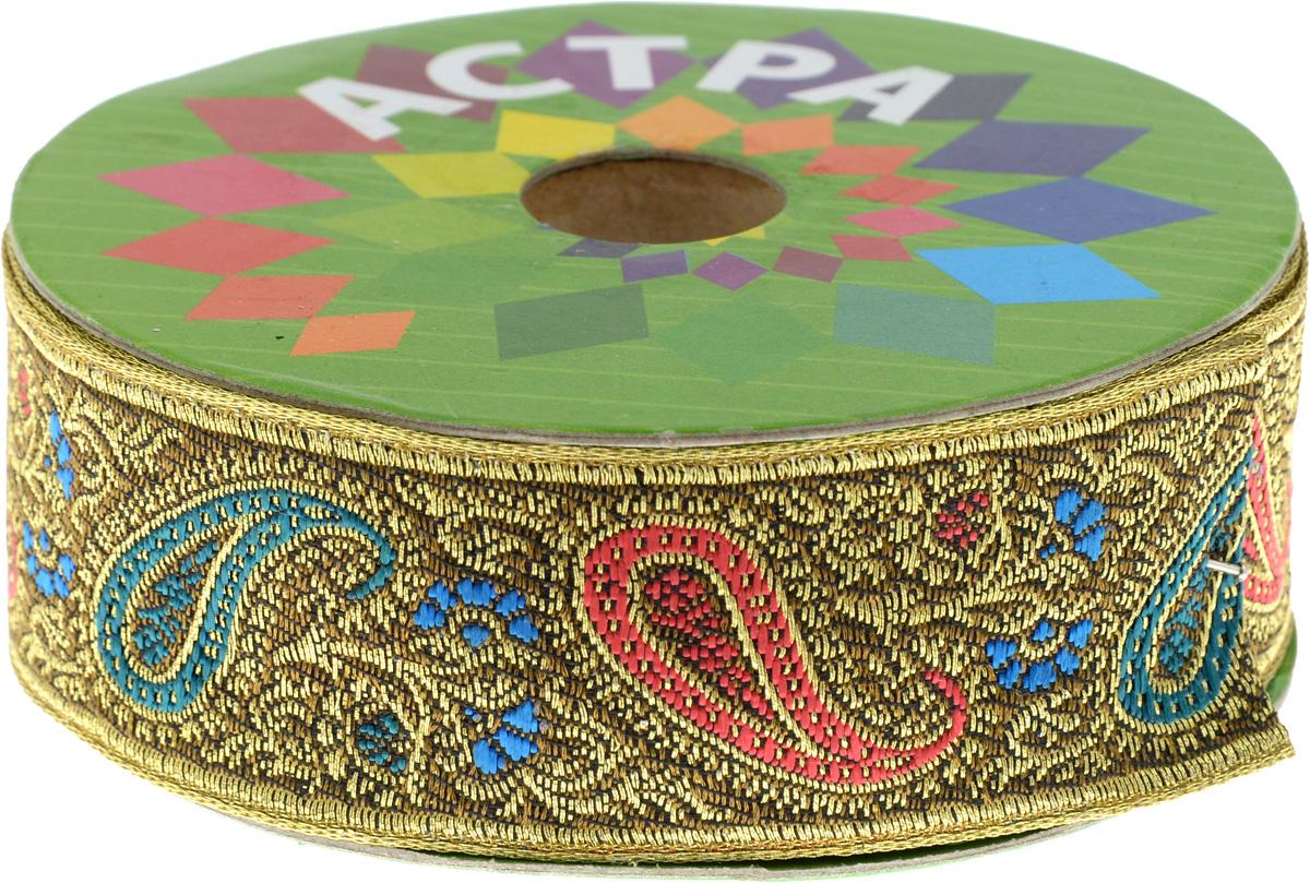 Тесьма декоративная Астра, цвет: коричневый, золотистый, 3 см х 900 см7703443_С19Декоративная тесьма Астра выполнена из текстиля и оформлена оригинальным орнаментом. Такая тесьма идеально подойдет для оформления различных творческих работ. Тесьма наивысшего качества практична в использовании. Она станет незаменимом элементов в создании рукотворного шедевра. Ширина: 3 см. Длина: 9 м.