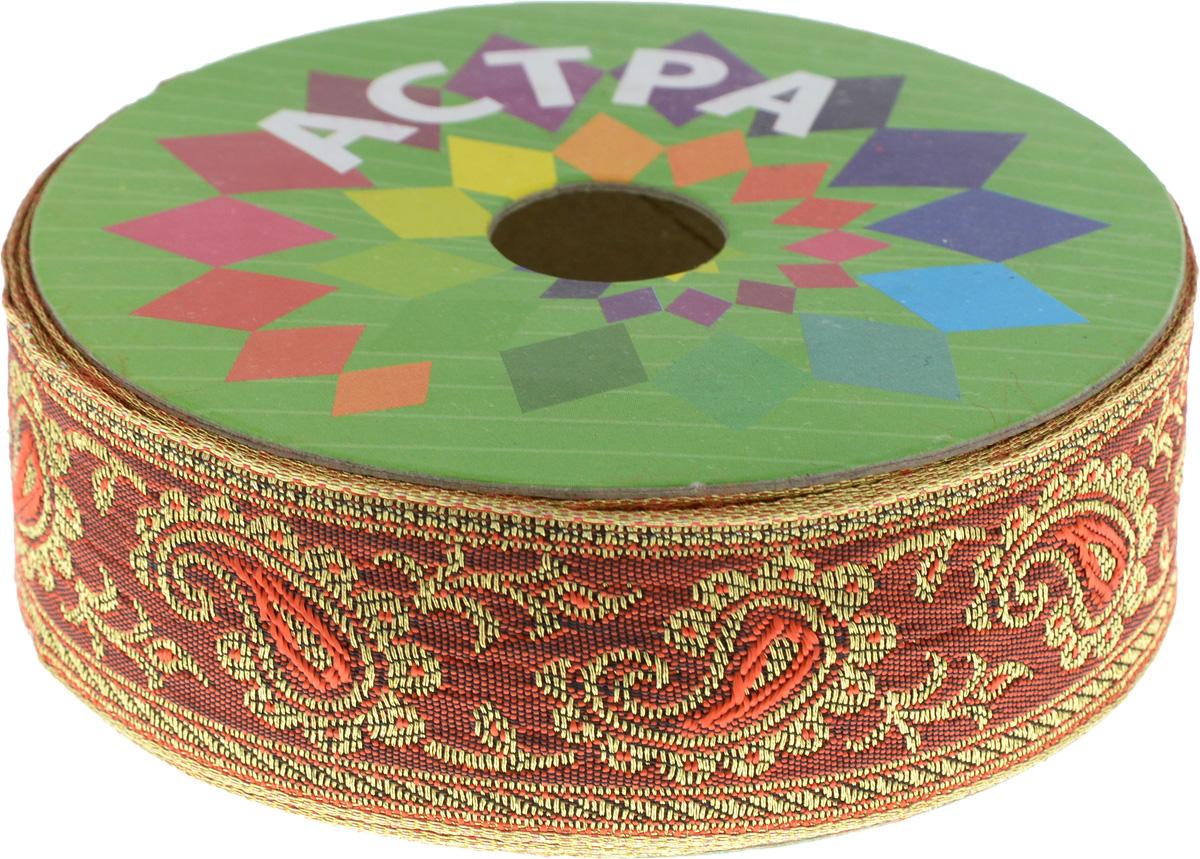 Тесьма декоративная Астра, цвет: красный (62), ширина 3 см, длина 9 м. 77034487703448_62Декоративная тесьма Астра выполнена из текстиля и оформлена оригинальным орнаментом. Такая тесьма идеально подойдет для оформления различных творческих работ таких, как скрапбукинг, аппликация, декор коробок и открыток и многое другое. Тесьма наивысшего качества и практична в использовании. Она станет незаменимым элементом в создании рукотворного шедевра. Ширина: 3 см. Длина: 9 м.