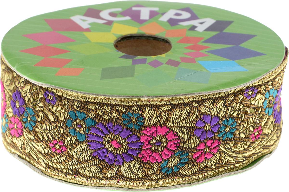 Тесьма декоративная Астра, цвет: коричневый, фиолетовый (С22), ширина 3 см, длина 9 м. 77034397703439_С22Декоративная тесьма Астра выполнена из текстиля и оформлена оригинальным орнаментом. Такая тесьма идеально подойдет для оформления различных творческих работ таких, как скрапбукинг, аппликация, декор коробок и открыток и многое другое. Тесьма наивысшего качества и практична в использовании. Она станет незаменимым элементом в создании рукотворного шедевра. Ширина: 3 см. Длина: 9 м.