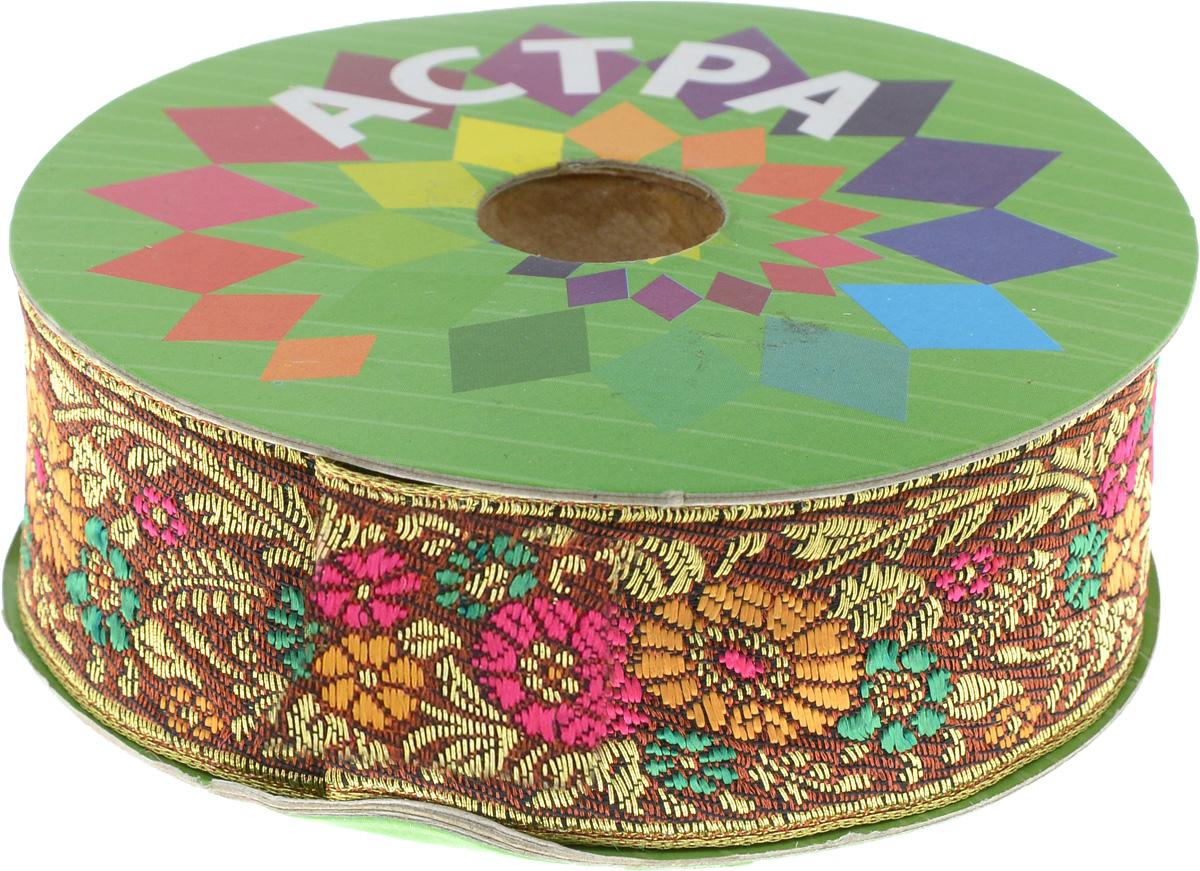 Тесьма декоративная Астра, цвет: кирпичный, оранжевый (С24), ширина 3 см, длина 9 м. 77034397703439_С24Декоративная тесьма Астра выполнена из текстиля и оформлена оригинальным орнаментом. Такая тесьма идеально подойдет для оформления различных творческих работ таких, как скрапбукинг, аппликация, декор коробок и открыток и многое другое. Тесьма наивысшего качества и практична в использовании. Она станет незаменимым элементом в создании рукотворного шедевра. Ширина: 3 см. Длина: 9 м.