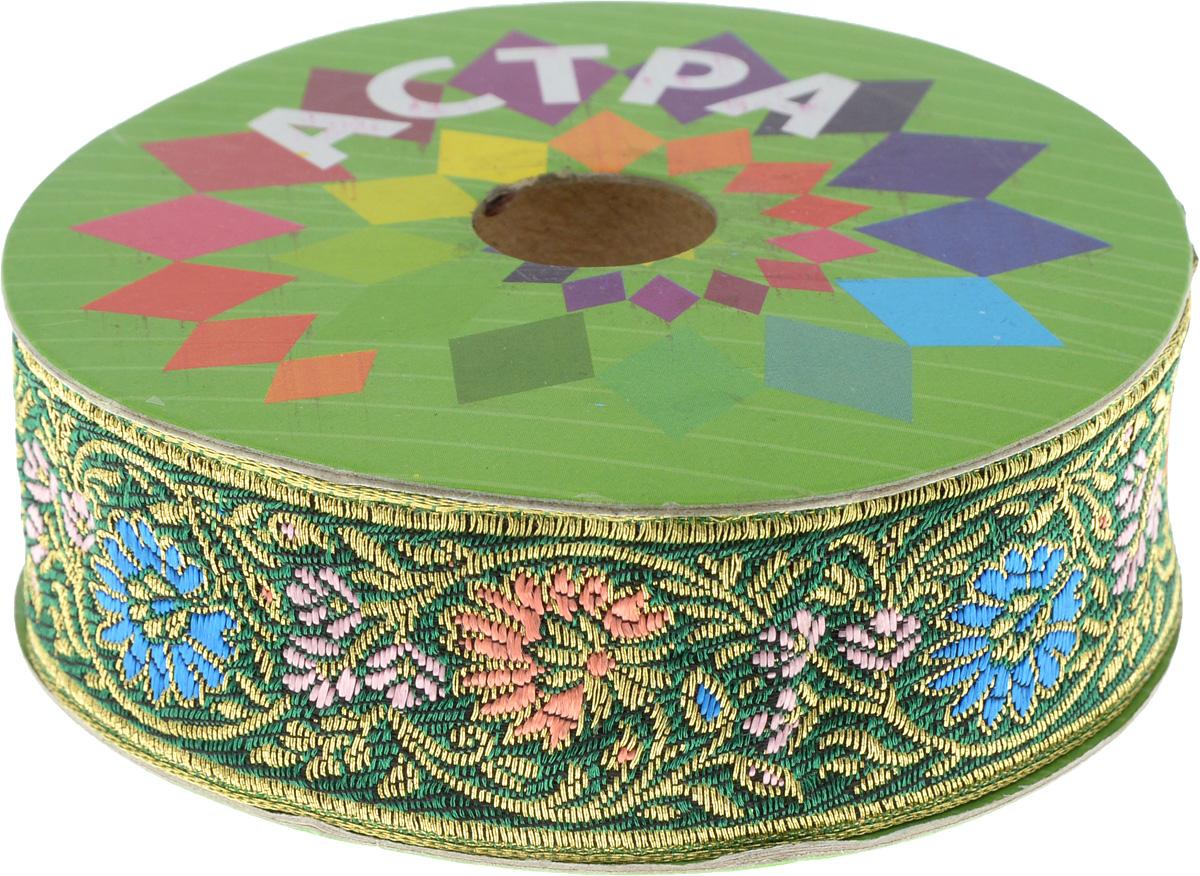 Тесьма декоративная Астра, цвет: зеленый (С4), ширина 3 см, длина 9 м. 77034417703441_С4Декоративная тесьма Астра выполнена из текстиля и оформлена оригинальным жаккардовым орнаментом. Такая тесьма идеально подойдет для оформления различных творческих работ таких, как скрапбукинг, аппликация, декор коробок и открыток и многое другое. Тесьма наивысшего качества и практична в использовании. Она станет незаменимым элементом в создании рукотворного шедевра. Ширина: 3 см. Длина: 9 м.