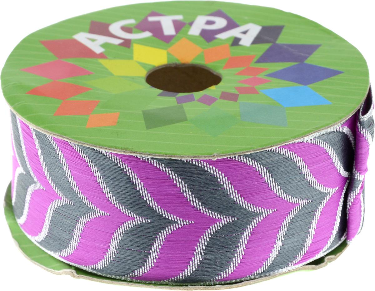 Тесьма декоративная Астра, цвет: розовый, ширина 4 см, длина 9 м. 77034597703459_серебро/35/45Декоративная тесьма Астра выполнена из текстиля и оформлена оригинальным жаккардовым орнаментом. Такая тесьма идеально подойдет для оформления различных творческих работ таких, как скрапбукинг, аппликация, декор коробок и открыток и многое другое. Тесьма наивысшего качества и практична в использовании. Она станет незаменимым элементом в создании рукотворного шедевра. Ширина: 4 см. Длина: 9 м.