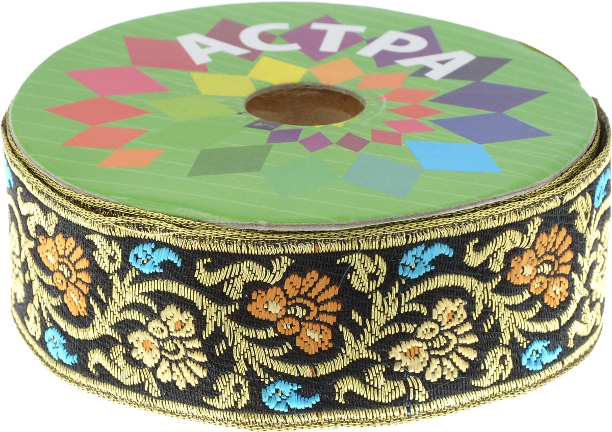 Тесьма декоративная Астра, цвет: черный (#1), ширина 3 см, длина 9 м. 77034247703424_1#Декоративная тесьма Астра выполнена из текстиля и оформлена оригинальным жаккардовым орнаментом. Такая тесьма идеально подойдет для оформления различных творческих работ таких, как скрапбукинг, аппликация, декор коробок и открыток и многое другое. Тесьма наивысшего качества и практична в использовании. Она станет незаменимым элементом в создании рукотворного шедевра. Ширина: 3 см. Длина: 9 м.