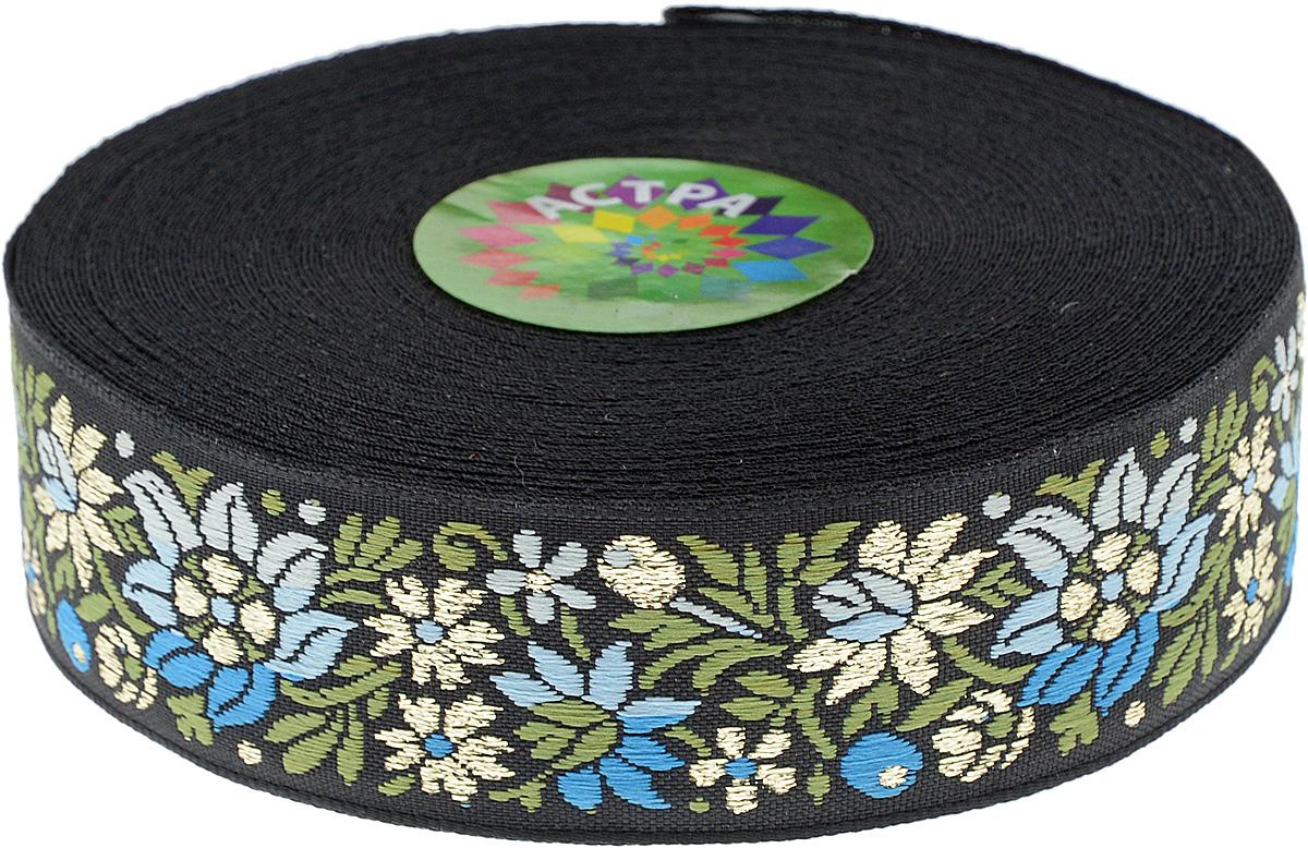 Тесьма декоративная Астра, цвет: черный, 30 мм х 9 м. 77034577703457_черныйДекоративная тесьма Астра выполнена из жаккардового текстиля и оформлена оригинальным цветочным орнаментом с отделкой золотистой нитью. Такая тесьма идеально подойдет для декора одежды, игрушек, различных творческих работ, может применяться для декорирования коробок, цветочных композиций, в скрапбукинге. Тесьма наивысшего качества практична в использовании. Она станет незаменимым элементом в создании рукотворного шедевра. Ширина: 30 мм. Длина: 9 м.