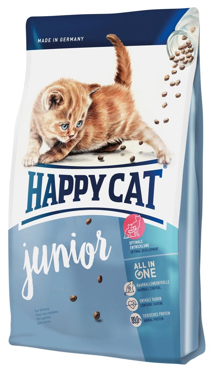 Корм сухой Happy Cat Supreme Junior для котят, 300 г70181Сухой корм Happy Cat Supreme Junior - производится на основе многообразной и натуральной рецептуры. Данный корм изготовлен из ценной птицы и лосося и тем самым имеет высокое содержание животного белка, которые составляют минимум 89% из общего содержания протеина, что является важным фактором эволюции из бедокура в сильную кошку. Котятам требуется особенно качественное питание как залог долгой и активной жизни. Для гармоничного роста крайне важен сбалансированный корм, который содержит все необходимое. Состав: птица (29%), кукурузная мука, птичий жир, мясопродукты, рисовая мука, картофельные хлопья, лосось (3,5%), клетчатка, свекольная пульпа, хлорид натрия, сухое цельное яйцо, дрожжи, яблочная пульпа (0,4%), хлорид калия, морские водоросли (0,2%), семя льна (0,2%), Юкка Шидигера (0,04%), корень цикория (0,04%), дрожжи (экстрагированные), расторопша, артишок, одуванчик, имбирь, березовый лист, крапива, ромашка, кориандр, розмарин,...