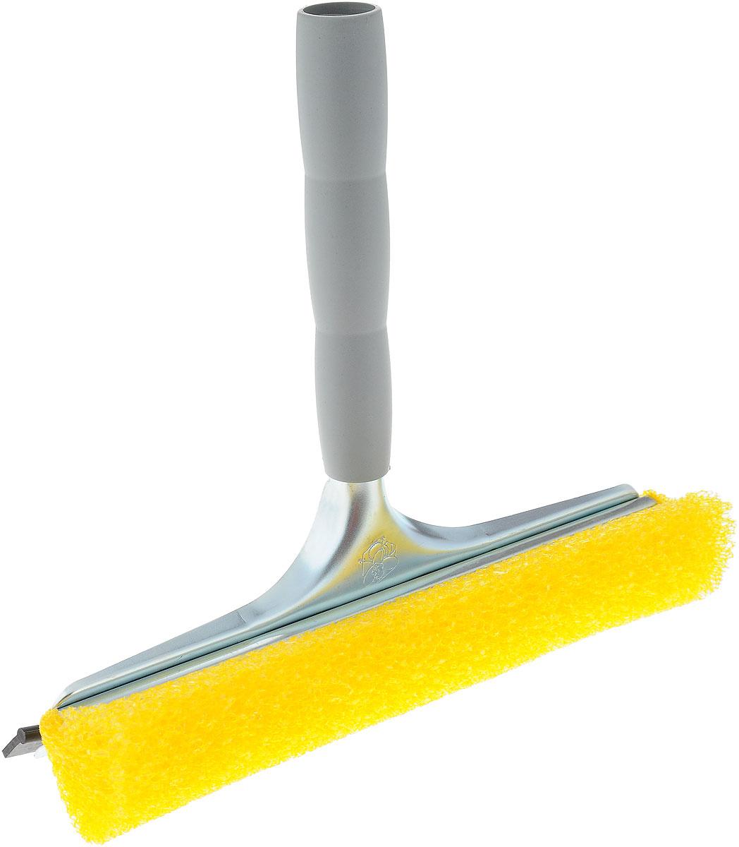 Стеклоочиститель Mosquito, с водосгоном, цвет: желтый, серый, 25 см20643-A_серыйСтеклоочиститель Mosquito, оснащенный удобной пластиковой ручкой, станет незаменимым помощником при уборке. Он стирает жидкость со стекла, благодаря губке, выполненной из вспененного полиэтилена, а для полного вытирания имеется резиновый водосгон. Длина ручки: 18,5 см. Ширина рабочей поверхности: 25 см.