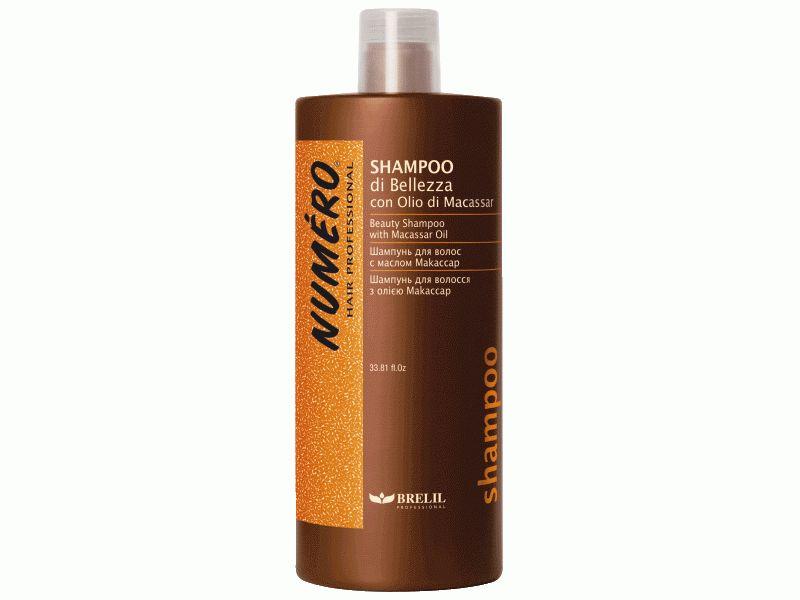 Brelil Шампунь для красоты волос с макассаровым маслом и кератином Numero Beauty Shampoo With Macassar Oil, 1000 млB071760Brelil Numero Beauty Shampoo With Macassar Oil Шампунь для красоты волос с макассаровым маслом и кератином замечательно очищает волосы, восстанавливает и укрепляет их, оказывает благоприятное тонизирующее воздействие на кожу головы. Средство содержит следующие активные компоненты: Макассаровое масло, которое является одним из самых ценных и лучших косметических масел, придаёт силу даже самым повреждённым и ослабленным волосам. Благодаря макассаровому маслу волосы приобретают отличный объём и впечатляющий блеск уже после применения шампуня. Кератин протеин, присутствующий в составе волос, и обеспечивающий восстановление и поддерживание их структуры. Кератин очень полезен как для нормальных волос, так и для волос, ослабленных после процедуры окрашивания. Шампунь Brelil Numero Beauty дарит Вашим волосам силу, здоровье и красоту.
