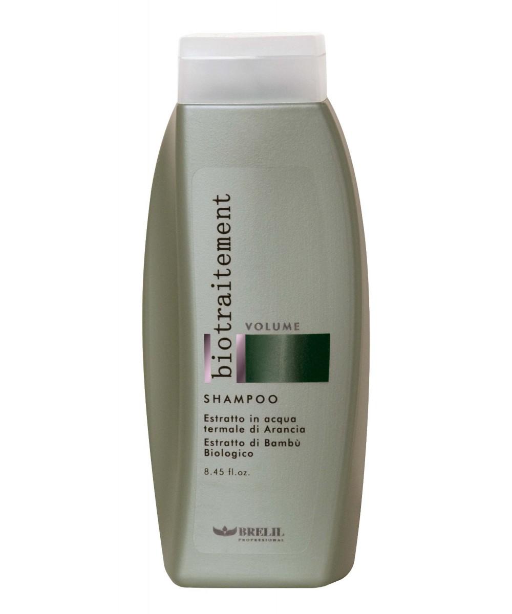 Brelil Шампунь для придания объёма Bio Traitement Volume Shampoo, 250 млB5069590Brelil Bio Traitement Volume Shampoo Шампунь для придания объёма тщательно очищает волосы от загрязнений, наполняет их здоровьем, прекрасным сиянием и полезными витаминами. В состав шампуня входит натуральный экстракт апельсина, который придаёт волосам замечательную эластичность и гибкость, увлажняет структуру волос и поддерживает оптимальный уровень влаги внутри каждого волоса, оказывает тонизирующее воздействие на кожу головы. Органическое молочко бамбука наделяет волосы силой и объёмом, обеспечивает волосам защиту от вредного влияния ультрафиолетовых лучей, восстанавливает иммунитет волос. Шампунь Brelil Volume Shampoo для придания объёма отлично подходит для регулярного применения, обладает приятным ароматом, делает волосы чистыми, гибкими и здоровыми.