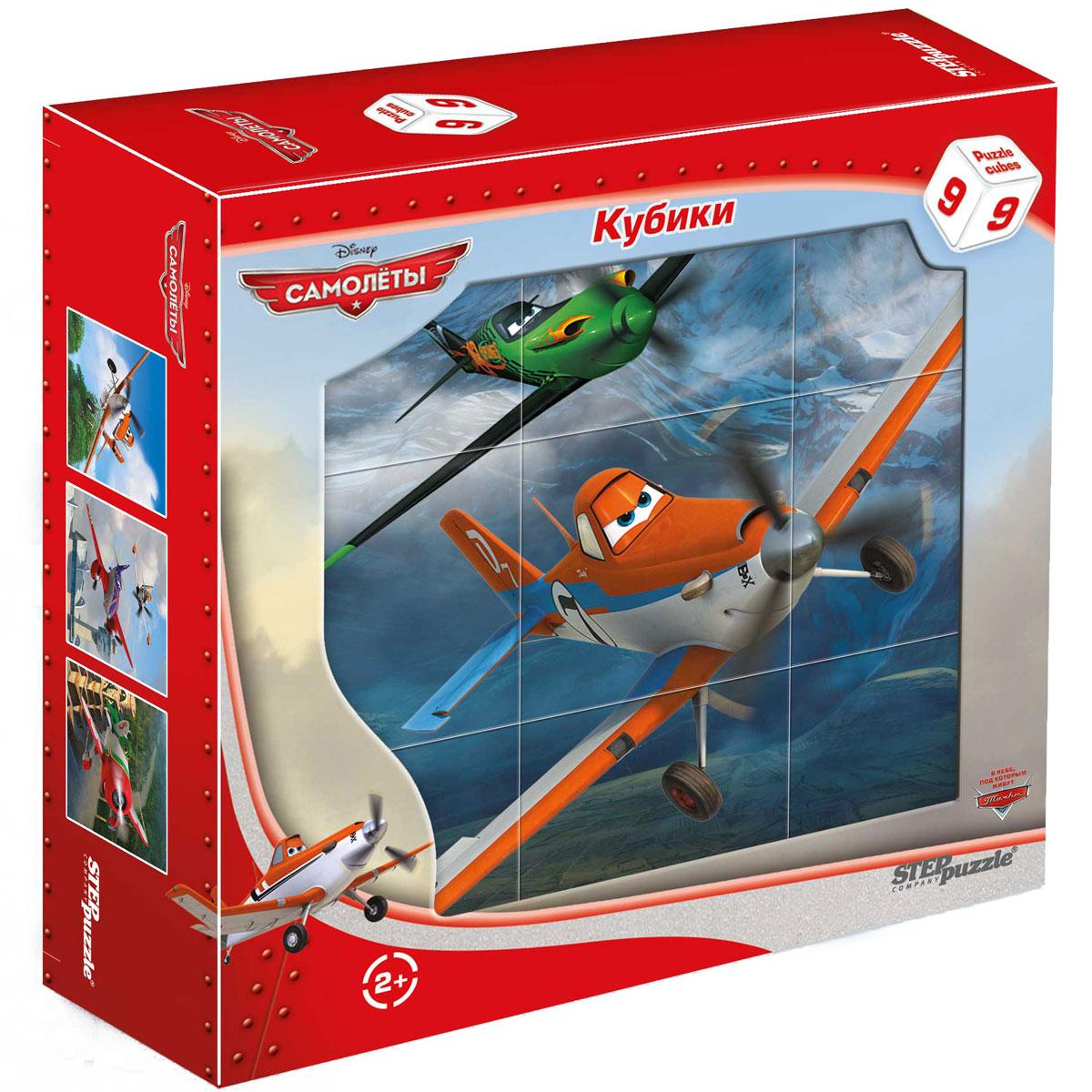 Step Puzzle Кубики Самолеты 9 шт87144С помощью кубиков Step Puzzle Самолеты ребенок сможет собрать целых шесть красочных картинок с любимыми героями мультфильма Самолеты. Игра с кубиками развивает зрительное восприятие, наблюдательность, мелкую моторику рук и произвольные движения. Ребенок научится складывать целостный образ из частей, определять недостающие детали изображения. Это прекрасный комплект для развлечения и времяпрепровождения с пользой для малыша.