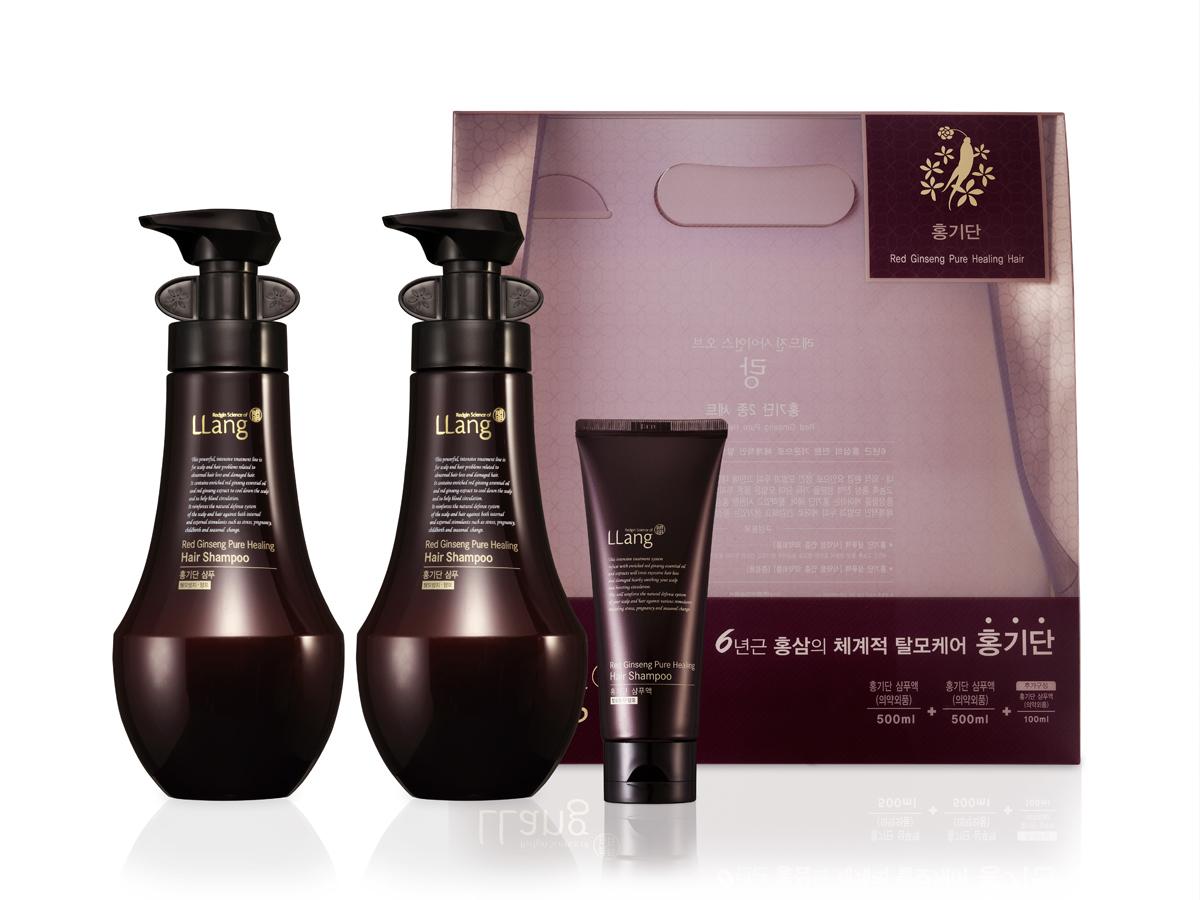 Llang Набор для ухода за волосами Red Ginseng Pure Healing Hair Shampoo Set, 500+100 мл, 500 мл