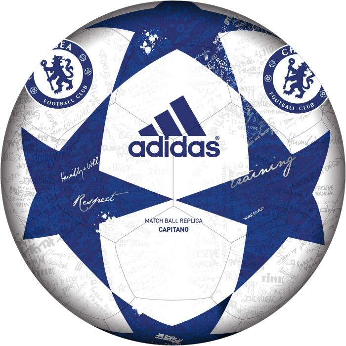 Футбольный мяч Adidas, цвет: белый, синий. AP0396