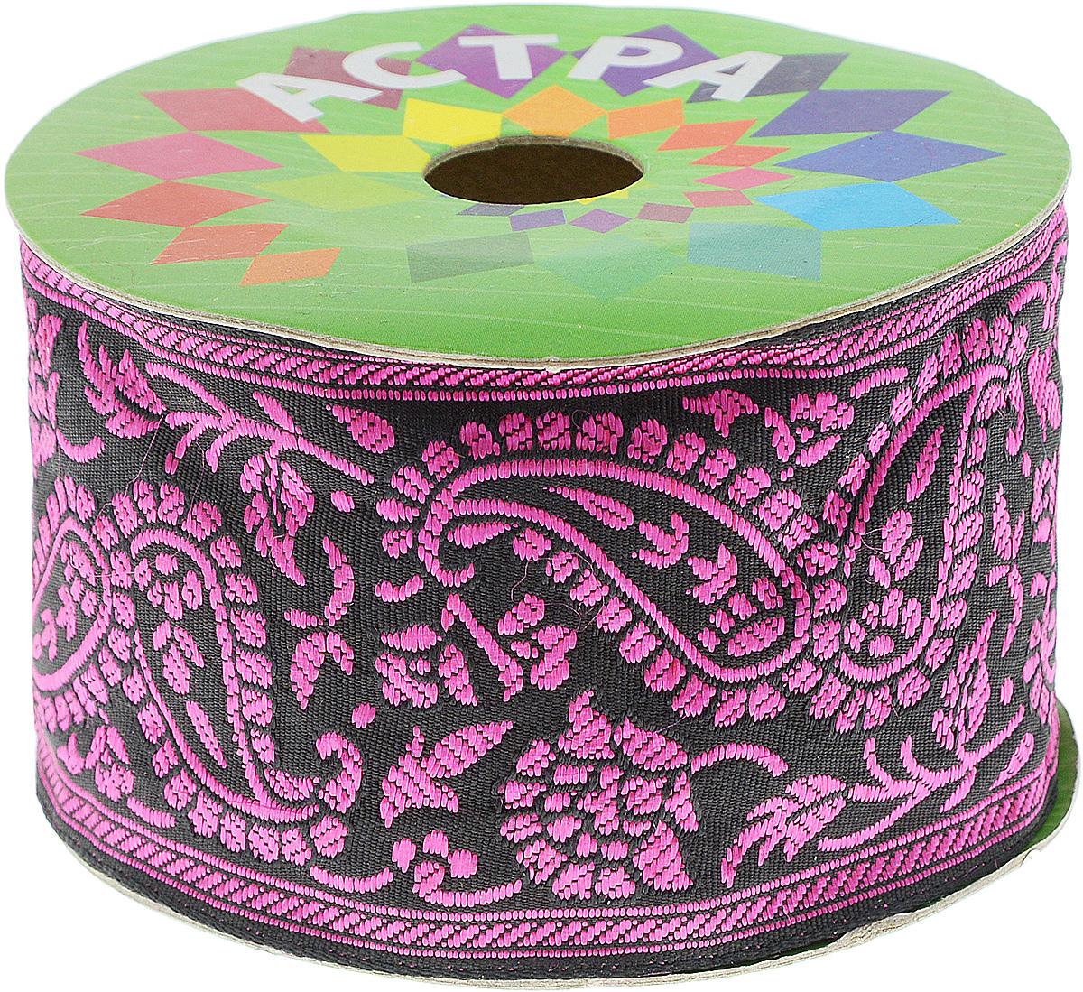 Тесьма декоративная Астра, цвет: розовый (202-D), ширина 6 см, длина 9 м. 77034327703432_202-DДекоративная тесьма Астра выполнена из текстиля и оформлена оригинальным жаккардовым орнаментом. Такая тесьма идеально подойдет для оформления различных творческих работ таких, как скрапбукинг, аппликация, декор коробок и открыток и многое другое. Тесьма наивысшего качества и практична в использовании. Она станет незаменимым элементом в создании рукотворного шедевра. Ширина: 6 см. Длина: 9 м.