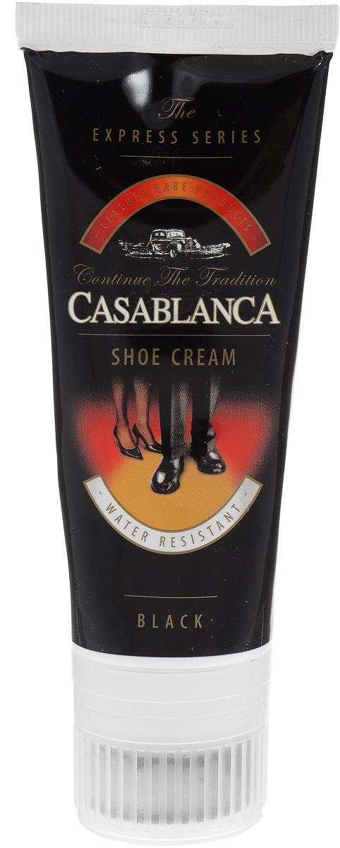 Крем-воск для обуви Casablanca, цвет: черный 75 мл1213Придает обуви идеальный долговременный блеск. Питает кожу, предотвращает ее от высыхания и делает эластичной. Защищает кожу от влаги и грязи, обеспечивая легкую чистку. Правильное использование крема значительно увеличит срок службы вашей обуви