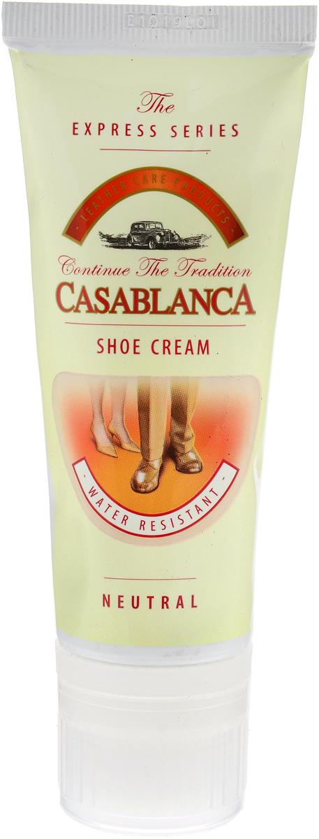Крем-воск для обуви Casablanca, цвет: прозрачный 75 мл1215Придает обуви идеальный долговременный блеск. Питает кожу, предотвращает ее от высыхания и делает эластичной. Защищает кожу от влаги и грязи, обеспечивая легкую чистку. Правильное использование крема значительно увеличит срок службы вашей обуви