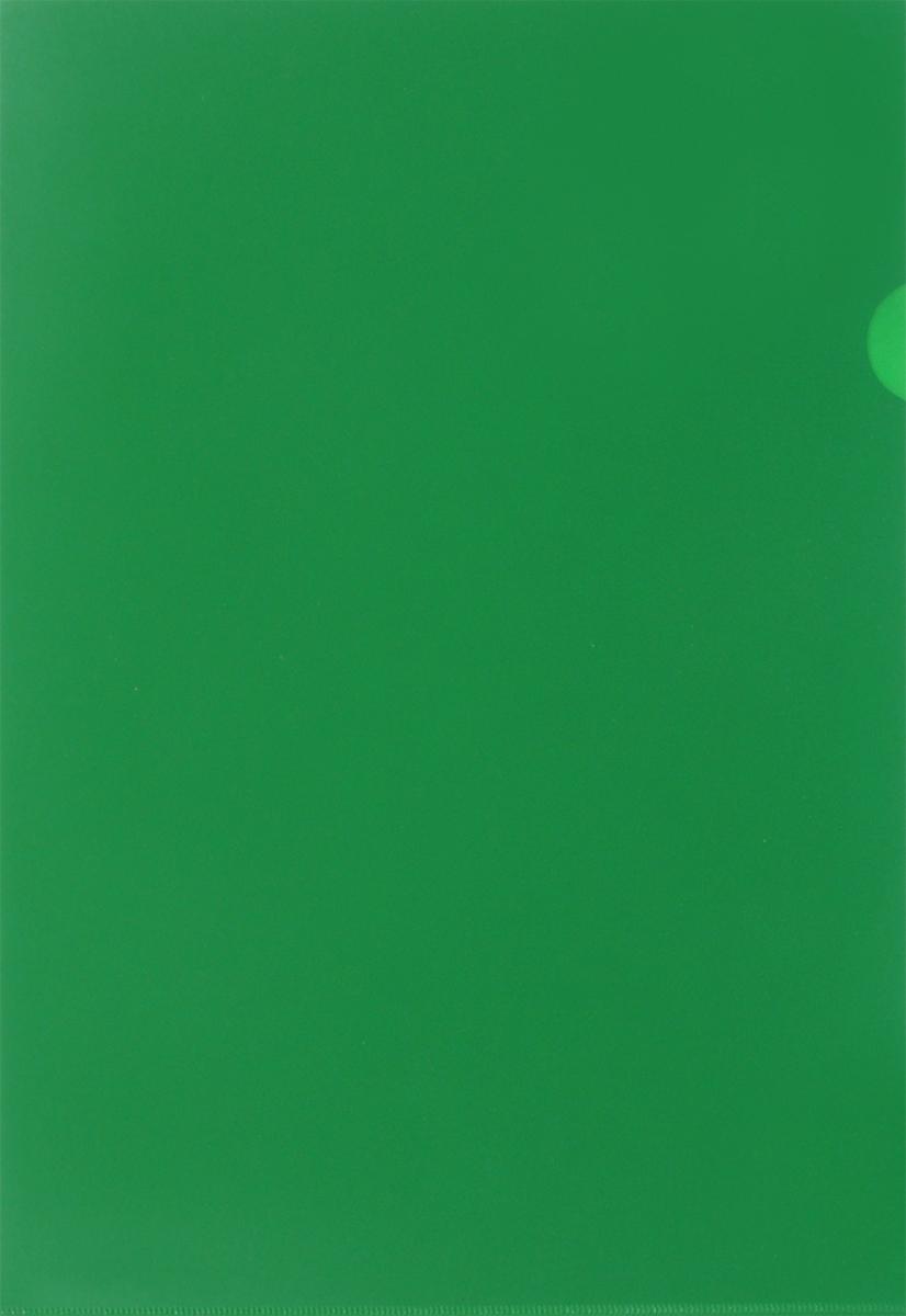 Бюрократ Папка-уголок цвет зеленый