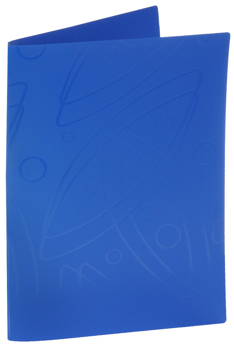 Бюрократ Папка с зажимом Galaxy цвет синий