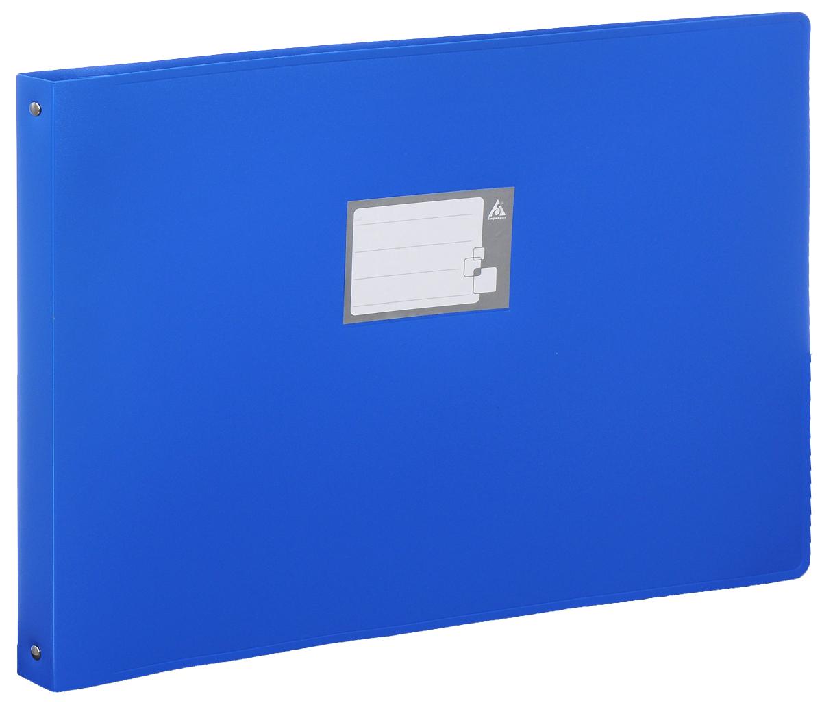 Бюрократ Папка на 4-х кольцах цвет синий 816570816570Надежная папка-уголок Бюрократ станет для вас незаменимым помощником в учебных или офисных делах. Папка-уголок формата А3 изготовлена из износоустойчивого пластика и предназначена хранения различных документов. Она оснащена 4 металлическими кольцами, которые позволят надежно закрепить все нужные документы. На обложке можно написать информацию о владельце или о содержимом папки. Такая папка всегда будет сохранять ваши документы в опрятном и чистом виде.