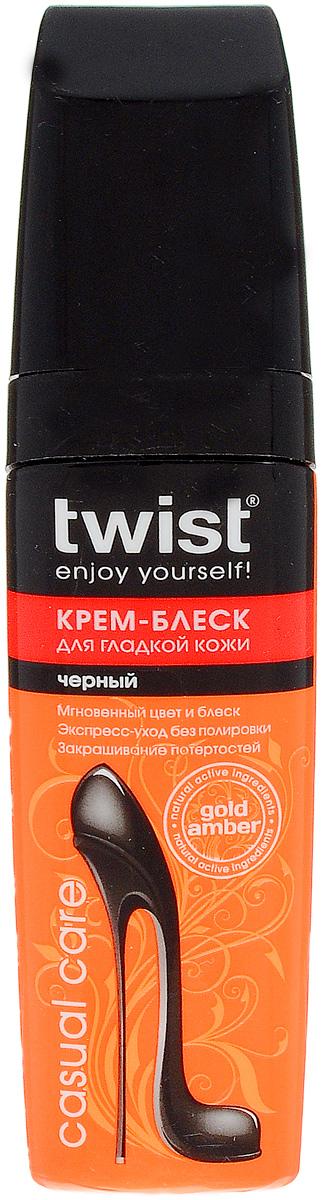 Крем-блеск для гладкой кожи Twist Casual, цвет: черный, 75 млTW03-C0010Крем-блеск для гладкой кожи Twist Casual смягчает кожу, придает ей эластичность и мягкость, обладает водоотталкивающим эффектом и морозоустойчивыми свойствами.