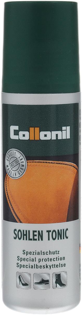 Пропитка для кожаной подошвы Collonil Sohlen Tonic, 75 мл5453 000Пропитка Collonil Sohlen Tonic - жидкое средство для ухода за кожаной подошвой обуви. Средство пропитывает кожаную подошву, делает ее прочнее, предотвращает попадание влаги с подошвы на верхний слой кожи, сохраняет дыхательную способность кожи. Использование средства повышает износостойкость обуви.