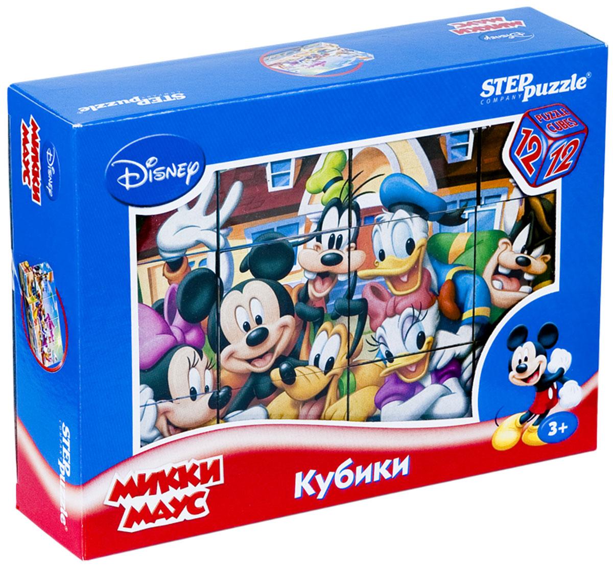 Step Puzzle Кубики Микки Маус87157С помощью кубиков Step Puzzle Микки Маус ребенок сможет собрать целых шесть красочных картинок с любимыми героями мультсериала о Микки Маусе и его друзьях. Наборы из 12 кубиков - для тех, кто освоил навык сборки картинки из 9 кубиков. Заложенный дидактический принцип От простого к сложному позволит ребёнку поверить свои силы. А герои популярных мультфильмов сделают кубики любимой игрушкой. Игра с кубиками развивает зрительное восприятие, наблюдательность, мелкую моторику рук и произвольные движения. Ребенок научится складывать целостный образ из частей, определять недостающие детали изображения. Это прекрасный комплект для развлечения и времяпрепровождения с пользой для малыша.