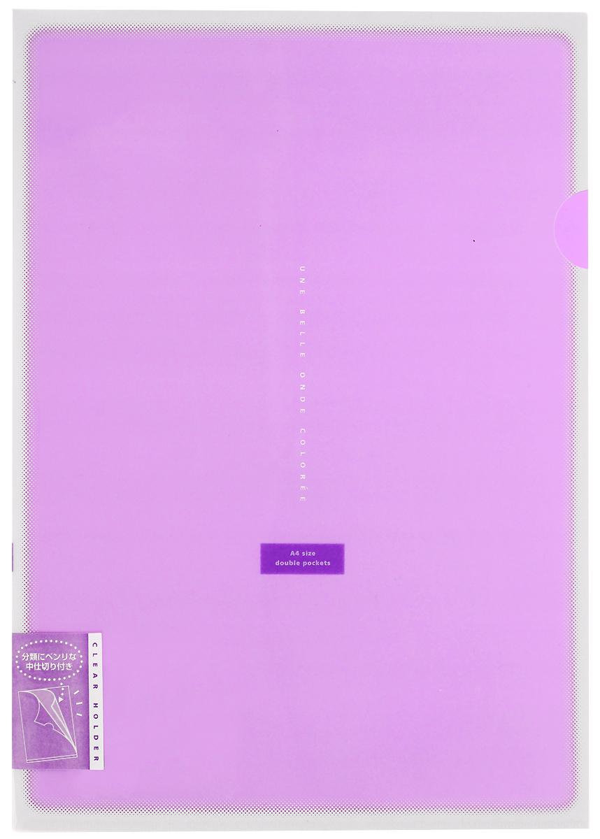 Kokuyo Папка-уголок Coloree цвет фиолетовый828462Папка-уголок Kokuyo Coloree подойдет для хранения документов и тетрадей как для офисного работника, так и для студента или школьника. По форме это обычная папка-уголок формата А4, но она имеет вставки на 2 кармана и вмещает в себя гораздо больше различных документов, чем папка с одним карманом. Папка изготовлена из качественного пластика, поэтому она всегда будет сохранять все ваши документы в чистом и опрятном виде.
