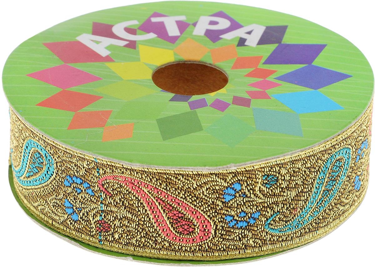 Тесьма декоративная Астра, цвет: коричневый (С19), ширина 3 см, длина 9 м. 77034237703423_C19Декоративная тесьма Астра выполнена из текстиля и оформлена оригинальным жаккардовым орнаментом. Такая тесьма идеально подойдет для оформления различных творческих работ таких, как скрапбукинг, аппликация, декор коробок и открыток и многое другое. Тесьма наивысшего качества и практична в использовании. Она станет незаменимым элементом в создании рукотворного шедевра.