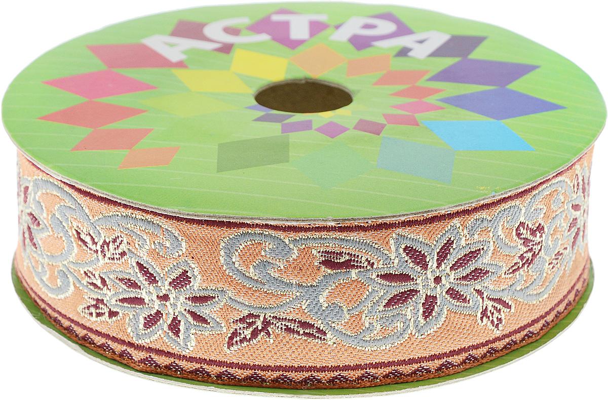 Тесьма декоративная Астра, цвет: светло-коричневый (155), ширина 4 см, длина 9 м. 77034517703451_155Декоративная тесьма Астра выполнена из текстиля и оформлена оригинальным жаккардовым орнаментом. Такая тесьма идеально подойдет для оформления различных творческих работ таких, как скрапбукинг, аппликация, декор коробок и открыток и многое другое. Тесьма наивысшего качества и практична в использовании. Она станет незаменимым элементом в создании рукотворного шедевра. Ширина: 6 см. Длина: 9 м.
