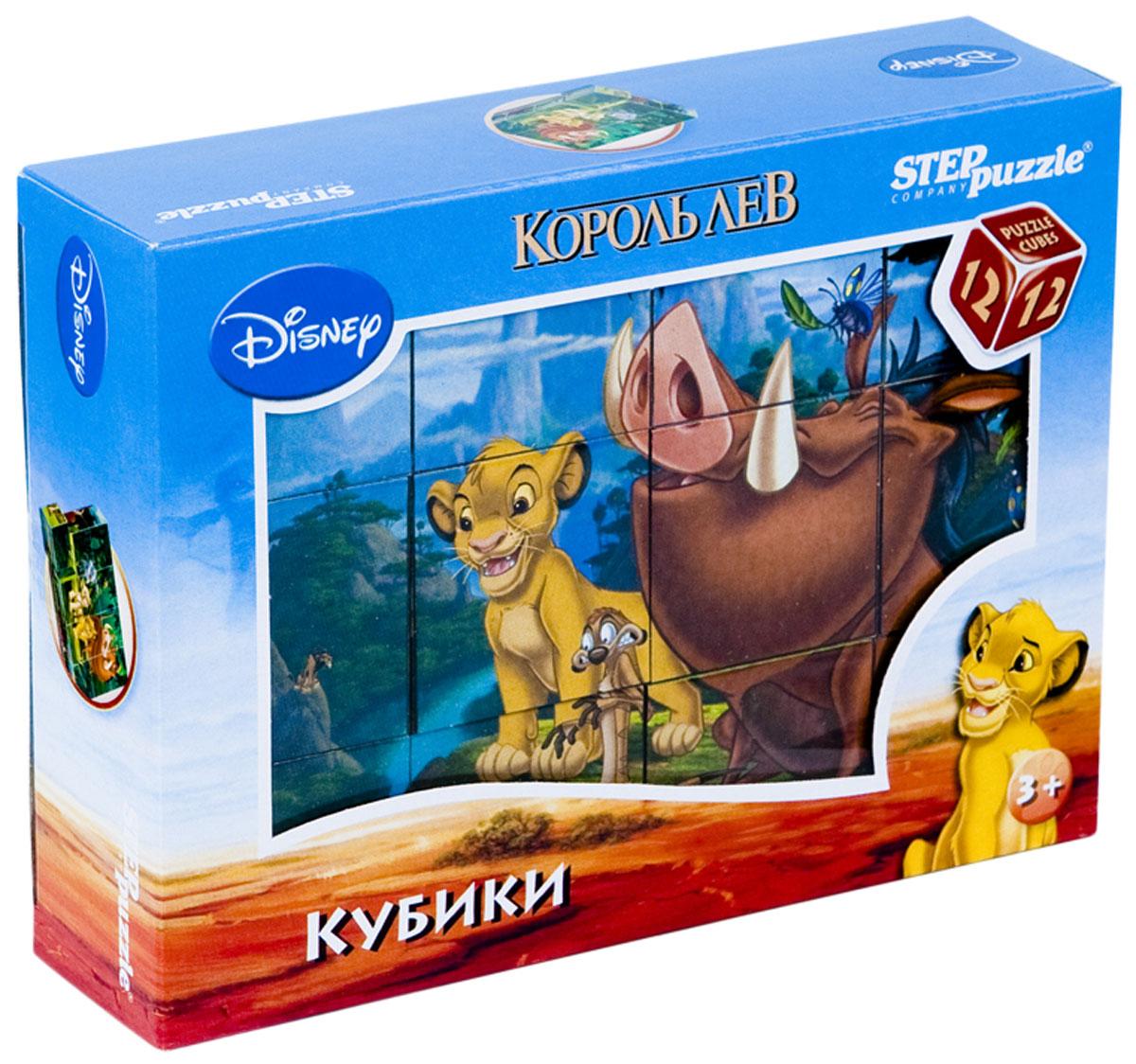 Step Puzzle Кубики Король Лев87156С помощью кубиков Step Puzzle Король Лев ребенок сможет собрать целых шесть красочных картинок с любимыми героями мультфильма Король Лев. Наборы из 12 кубиков - для тех, кто освоил навык сборки картинки из 9 кубиков. Заложенный дидактический принцип От простого к сложному позволит ребёнку поверить свои силы. А герои популярных мультфильмов сделают кубики любимой игрушкой. Игра с кубиками развивает зрительное восприятие, наблюдательность, мелкую моторику рук и произвольные движения. Ребенок научится складывать целостный образ из частей, определять недостающие детали изображения. Это прекрасный комплект для развлечения и времяпрепровождения с пользой для малыша.
