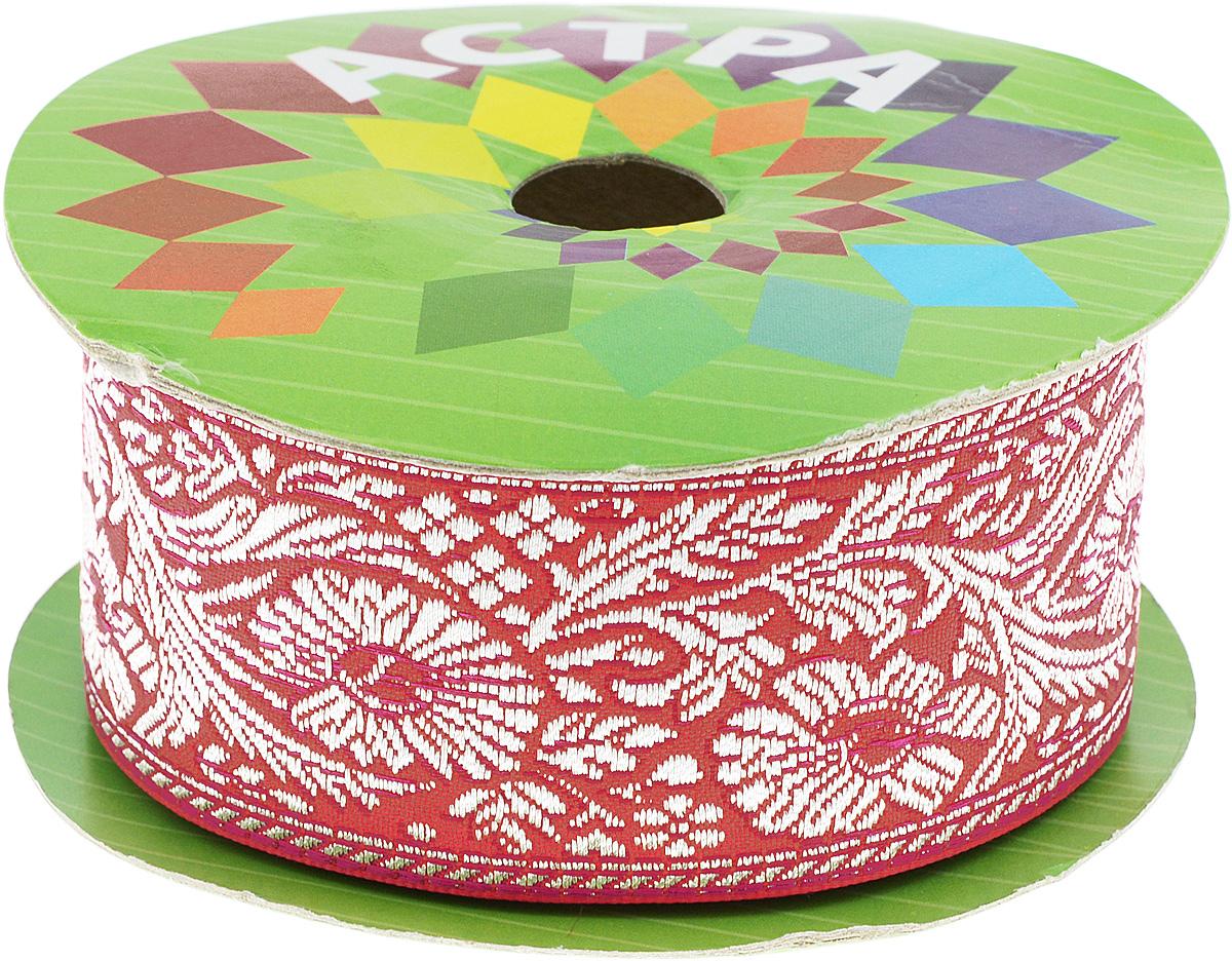 Тесьма декоративная Астра, цвет: красный (24), ширина 5 см, длина 16,5 м. 77034477703447_24Декоративная тесьма Астра выполнена из текстиля и оформлена оригинальным жаккардовым орнаментом. Такая тесьма идеально подойдет для оформления различных творческих работ таких, как скрапбукинг, аппликация, декор коробок и открыток и многое другое. Тесьма наивысшего качества и практична в использовании. Она станет незаменимым элементом в создании рукотворного шедевра. Ширина: 5 см. Длина: 16,5 м.