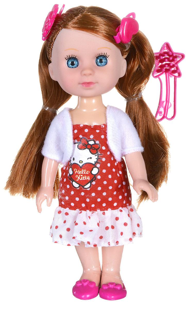 Карапуз Мини-кукла озвученная Моя подружка Машенька цвет наряда красный белыйMARY001X-HK_красныйОзвученная мини-кукла Карапуз Моя подружка Машенька порадует любую девочку и позволит ей окунуться в сказочный мир волшебства. Машенька одета в красное платье в белый горошек и белую кофточку, на ногах куклы - розовые туфельки. Вашей дочурке непременно понравится заплетать длинные волосы куклы, придумывая разнообразные прически. Руки, ноги и голова куклы подвижны, благодаря чему ей можно придавать разнообразные позы. Кроме того, куколка оснащена звуковыми эффектами. Она знает 4 стихотворения, поет и говорит. В наборе также имеется расческа для куклы и две заколочки. Игры с куклой способствуют эмоциональному развитию, помогают формировать воображение и художественный вкус, а также разовьют в вашей малышке чувство ответственности и заботы. Великолепное качество исполнения делают эту куколку чудесным подарком к любому празднику. Рекомендуется докупить 3 батарейки типа LR41/L736 (товар комплектуется демонстрационными).