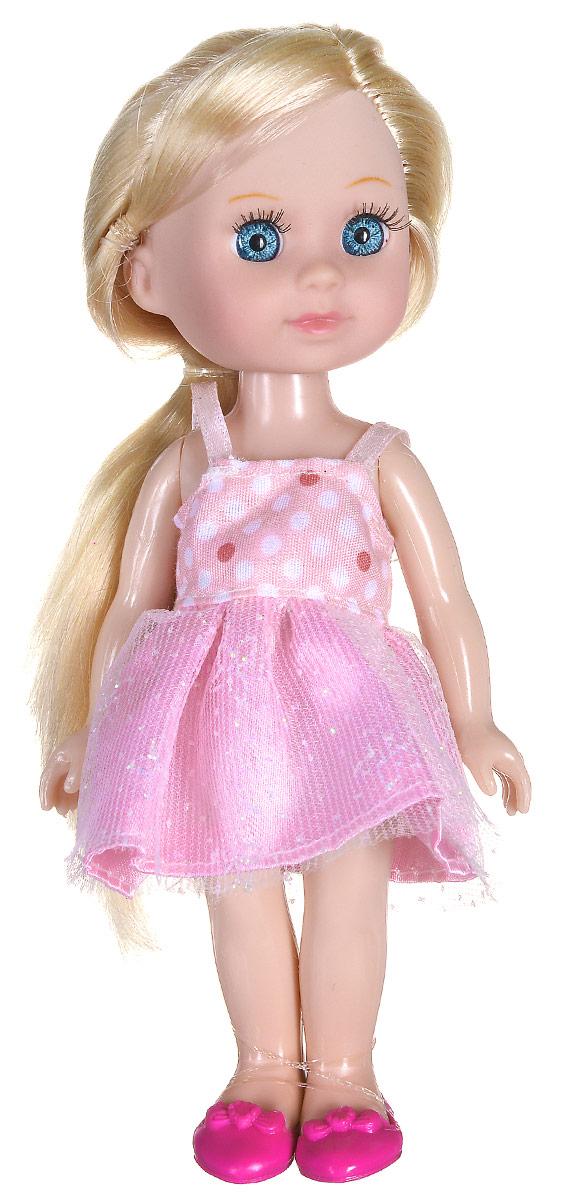 Карапуз Мини-кукла Машенька блондинкаMARY004X_блондинкаМини-кукла Карапуз Машенька порадует любую девочку и позволит ей окунуться в сказочный мир волшебства. Машенька одета в розовое платье, на ногах куклы - розовые туфельки. Вашей дочурке непременно понравится заплетать длинные светлые волосы куклы, придумывая разнообразные прически. Руки, ноги и голова куклы подвижны, благодаря чему ей можно придавать разнообразные позы. Игры с куклой способствуют эмоциональному развитию, помогают формировать воображение и художественный вкус, а также разовьют в вашей малышке чувство ответственности и заботы. Великолепное качество исполнения делают эту куколку чудесным подарком к любому празднику.