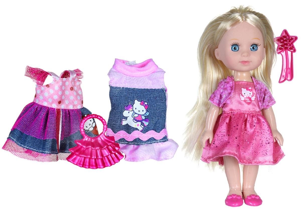 Карапуз Мини-кукла озвученная Моя подружка Машенька цвет наряда розовыйMARY002X-HKОзвученная мини-кукла Карапуз Моя подружка Машенька порадует любую девочку и позволит ей окунуться в сказочный мир волшебства. Машенька одета в очаровательный блестящий наряд, на ногах куклы - розовые туфельки. Вашей дочурке непременно понравится заплетать длинные светлые волосы куклы, придумывая разнообразные прически. Руки, ноги и голова куклы подвижны, благодаря чему ей можно придавать разнообразные позы. Кроме того, куколка оснащена звуковыми эффектами. Она знает 4 стихотворения, поет и говорит. В наборе также имеется расческа для куклы, сумочка, два платья. Игры с куклой способствуют эмоциональному развитию, помогают формировать воображение и художественный вкус, а также разовьют в вашей малышке чувство ответственности и заботы. Великолепное качество исполнения делают эту куколку чудесным подарком к любому празднику. Рекомендуется докупить 3 батарейки типа LR41/L736 (товар комплектуется демонстрационными).