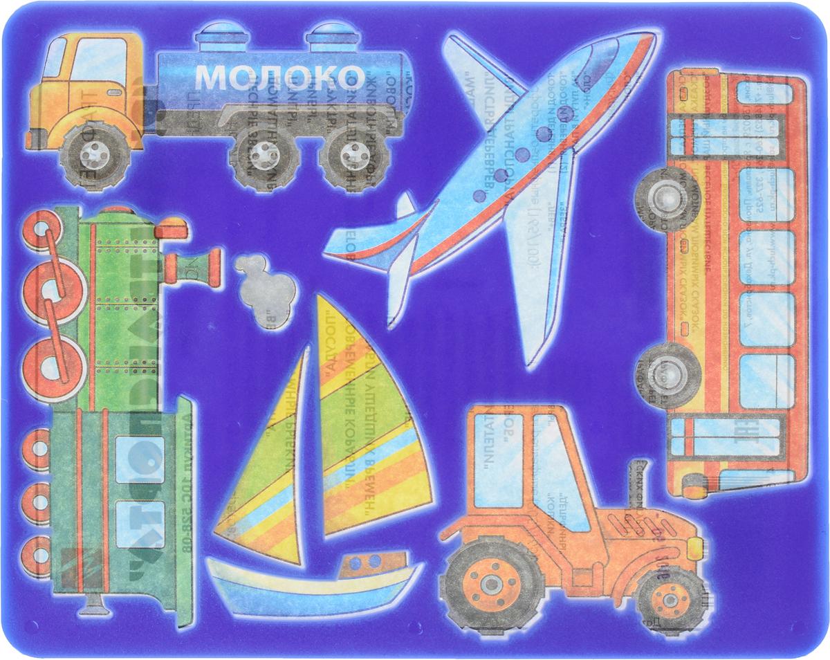Луч Трафарет прорезной Виды транспорта цвет синий10С 528-08_синийТрафарет Луч Виды транспорта, выполненный из безопасного пластика, предназначен для детского творчества. По трафарету маленький художник сможет нарисовать наземные, воздушные и водные виды транспорта. Для этого необходимо положить трафарет на лист бумаги, обвести фигуру по контуру и раскрасить по своему вкусу или глядя на цветную картинку-образец. Трафареты предназначены для развития у детей мелкой моторики и зрительно-двигательной координации, навыков художественной композиции и зрительного восприятия.