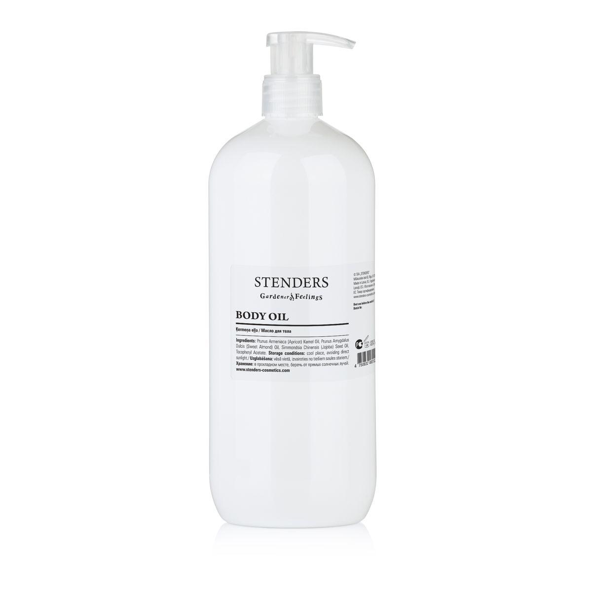 Stenders СПА-микс масел для тела 1 лBESPA_07_1Питательное масло для тела созданное из смеси масел абрикоса, сладкого миндаля и жожоба для ежедневного интенсивного ухода за телом. Масло не содержит: парабенов, силиконов, PEG, синтетических красителей и синтетических ароматизаторов.